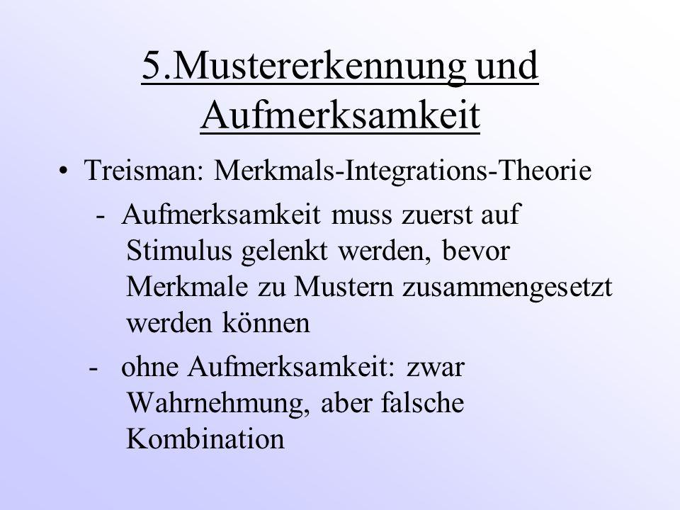 5.Mustererkennung und Aufmerksamkeit