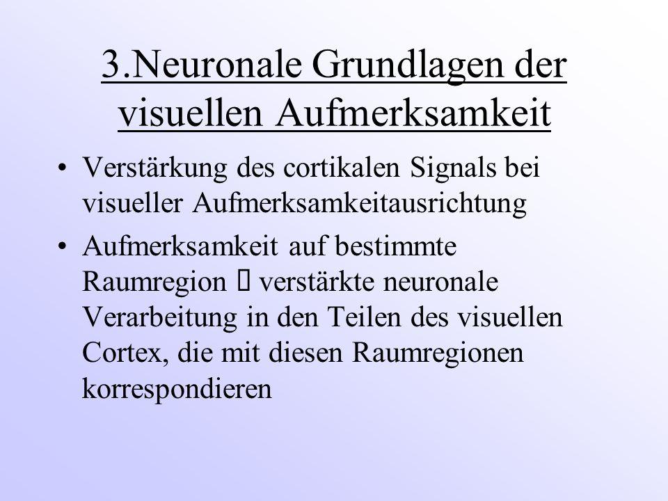 3.Neuronale Grundlagen der visuellen Aufmerksamkeit