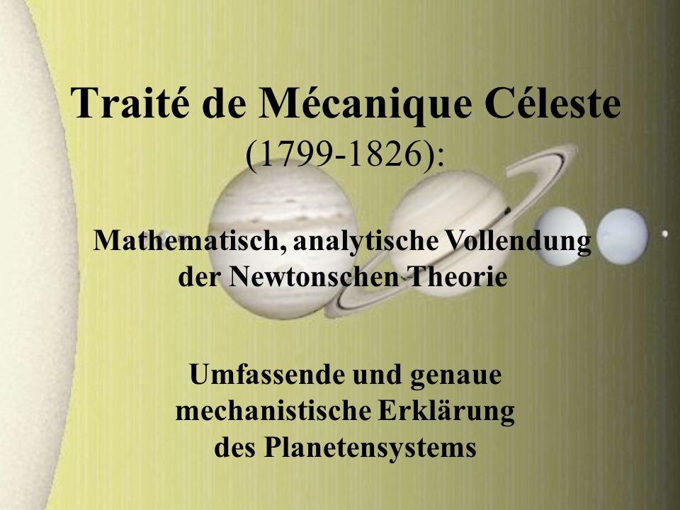 Traité de Mécanique Céleste (1799-1826):