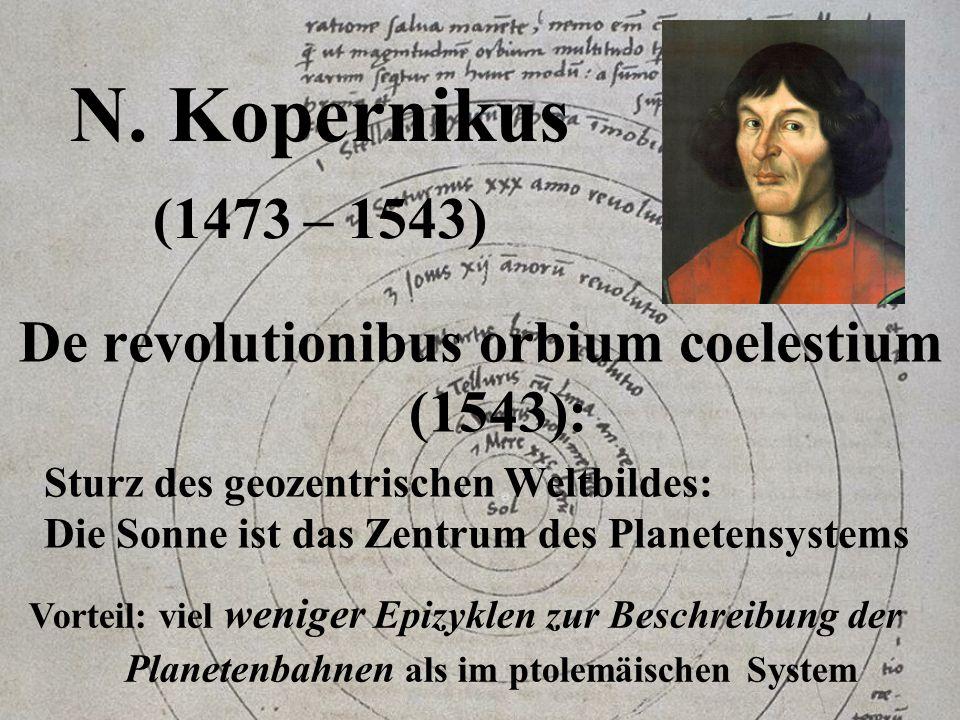 De revolutionibus orbium coelestium (1543):