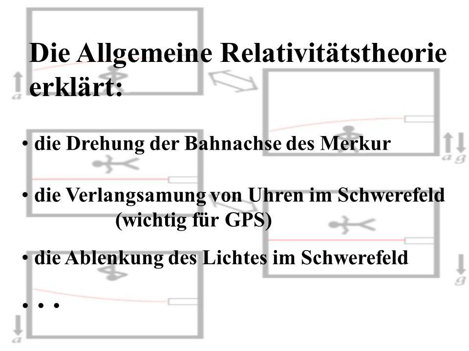 . . . Die Allgemeine Relativitätstheorie erklärt: