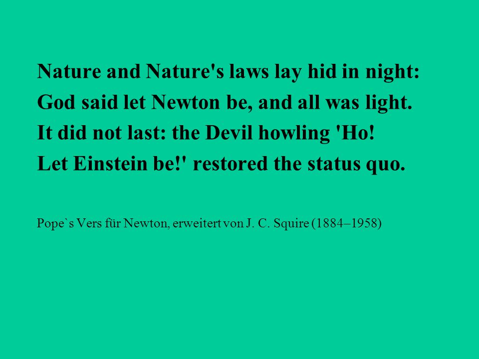 Nature and Nature s laws lay hid in night: