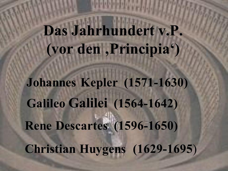 Das Jahrhundert v.P. (vor den 'Principia')