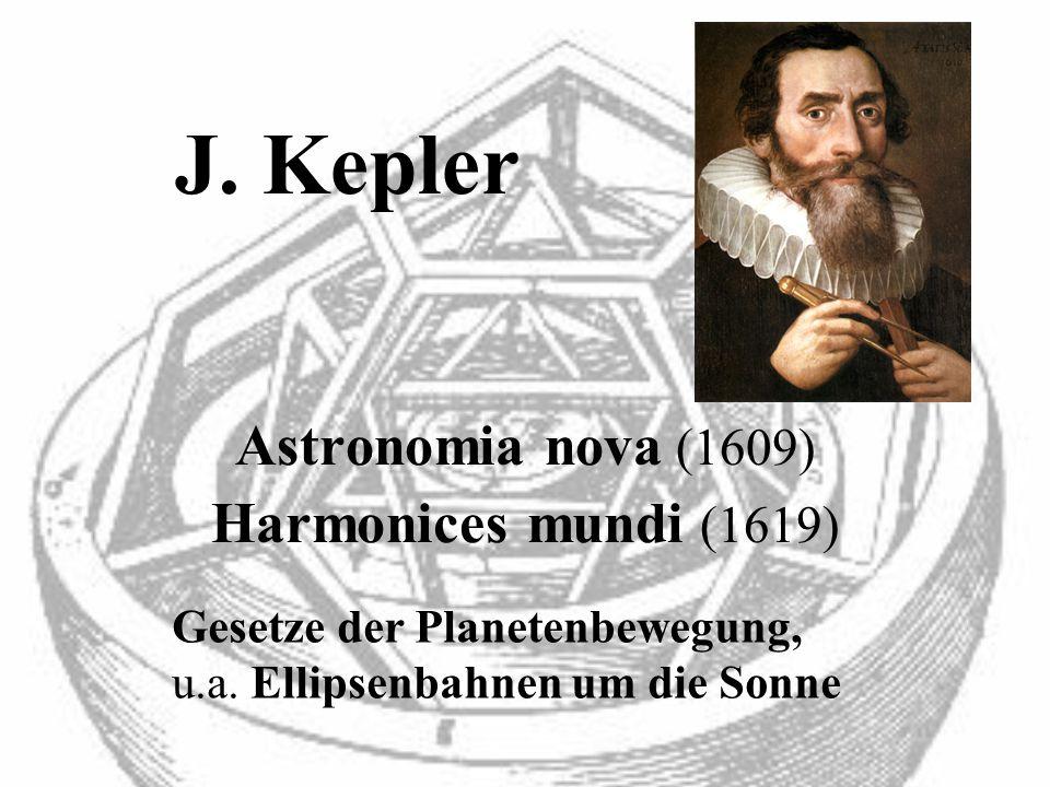 J. Kepler Astronomia nova (1609) Harmonices mundi (1619)