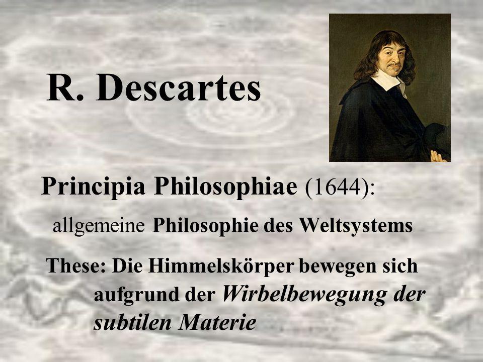 R. Descartes allgemeine Philosophie des Weltsystems