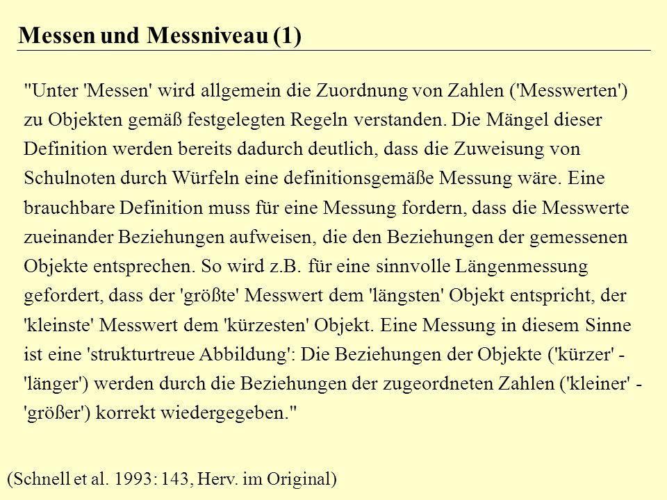 Messen und Messniveau (1)
