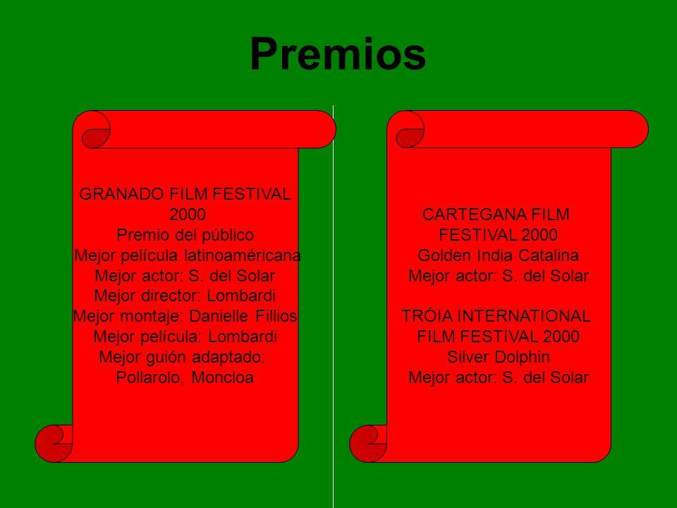 Premios GRANADO FILM FESTIVAL 2000 Premio del público