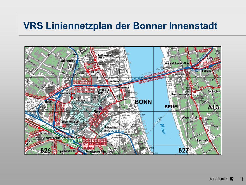 VRS Liniennetzplan der Bonner Innenstadt