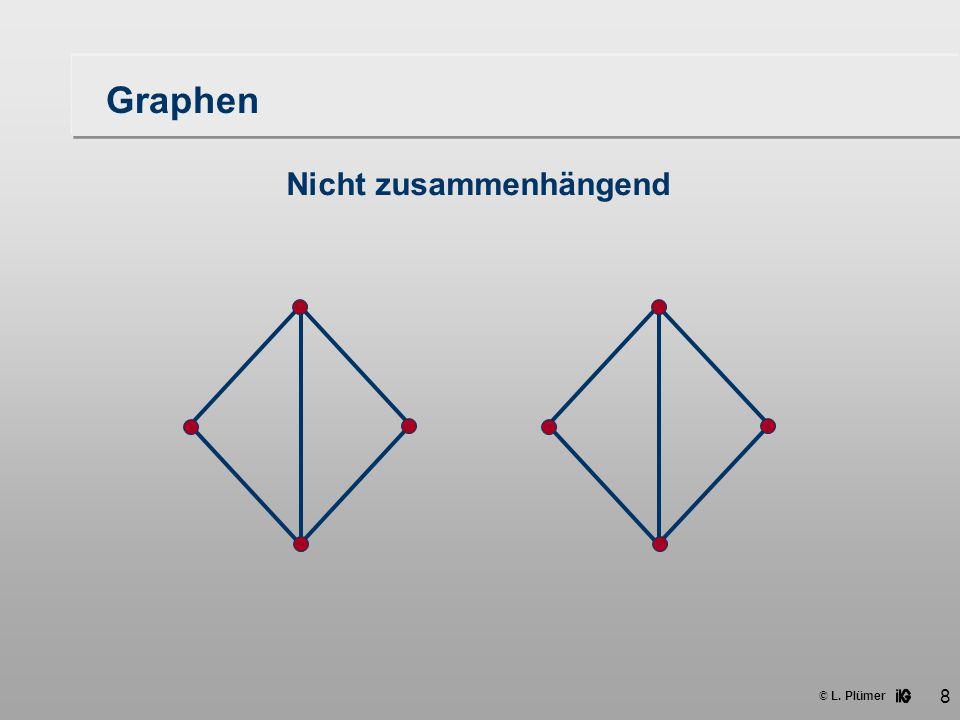 Graphen Nicht zusammenhängend
