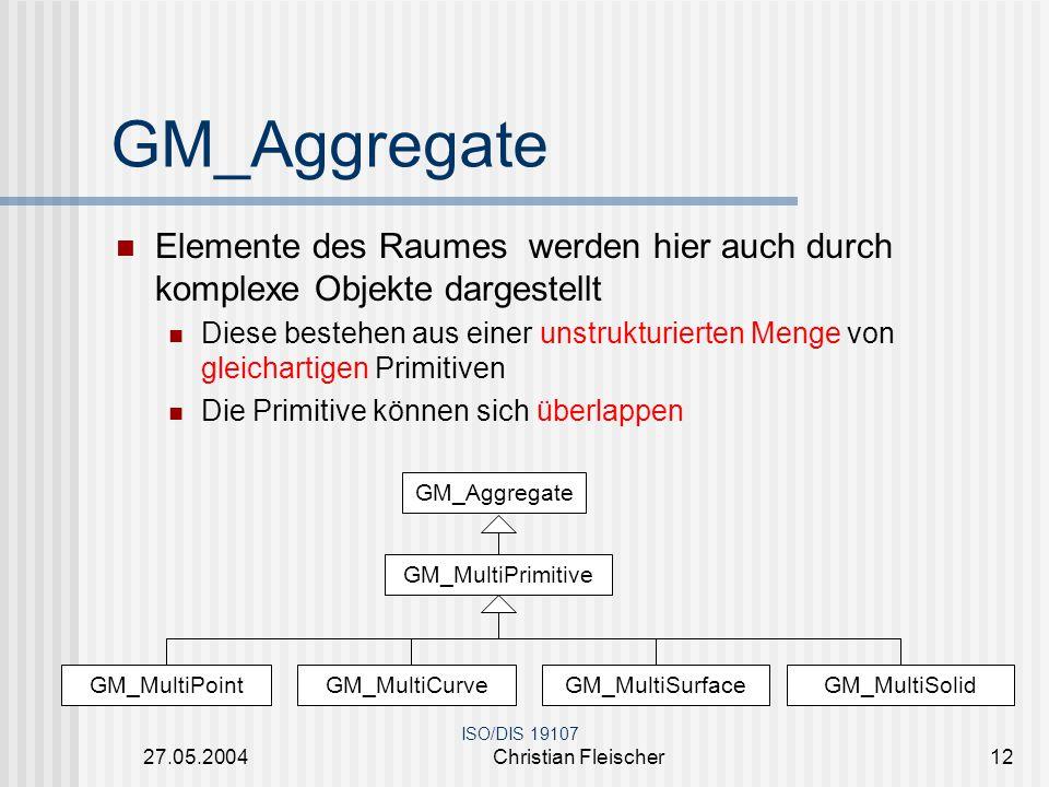 GM_Aggregate Elemente des Raumes werden hier auch durch komplexe Objekte dargestellt.