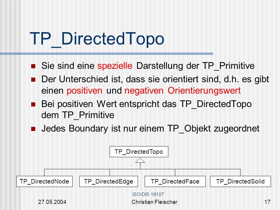 TP_DirectedTopo Sie sind eine spezielle Darstellung der TP_Primitive