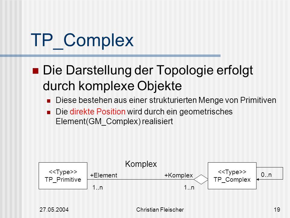 TP_Complex Die Darstellung der Topologie erfolgt durch komplexe Objekte. Diese bestehen aus einer strukturierten Menge von Primitiven.