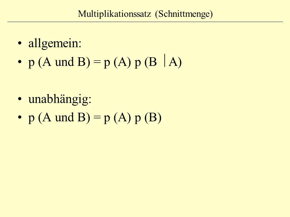 Multiplikationssatz (Schnittmenge)