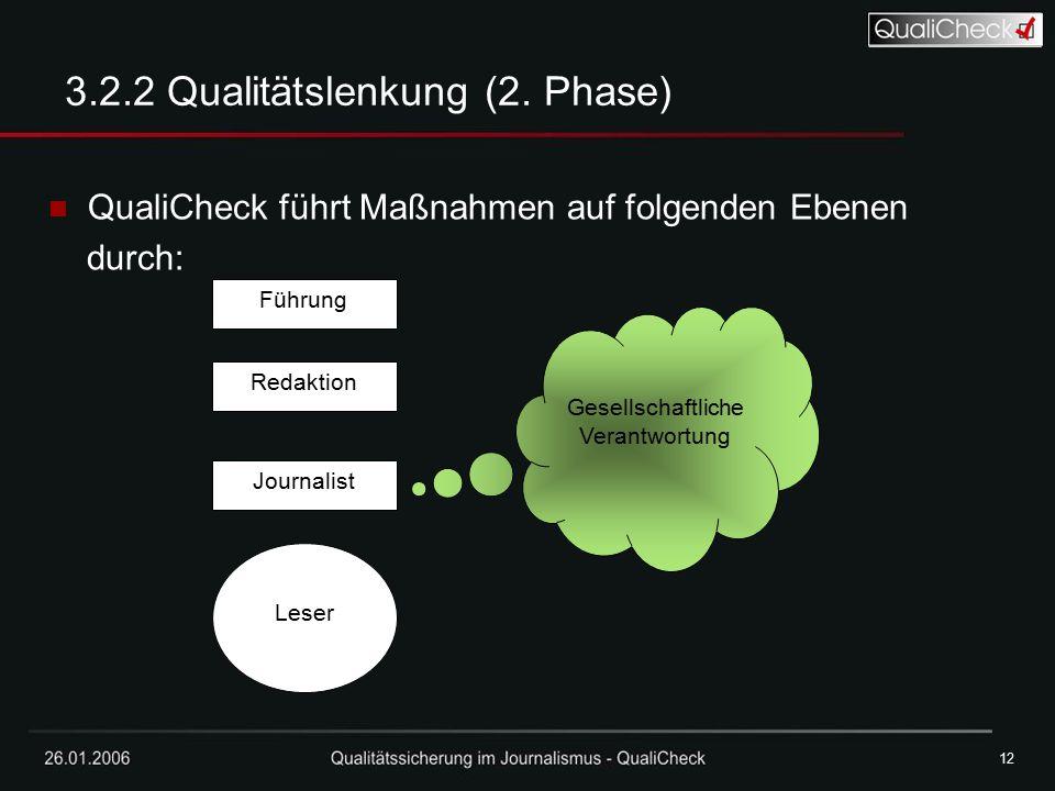 3.2.2 Qualitätslenkung (2. Phase)