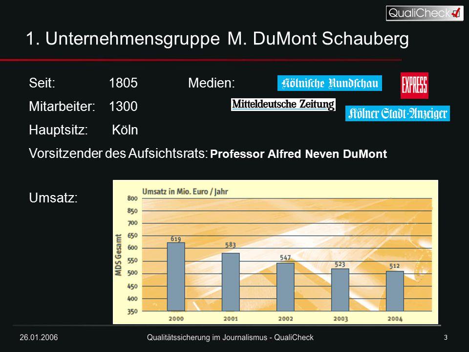 1. Unternehmensgruppe M. DuMont Schauberg