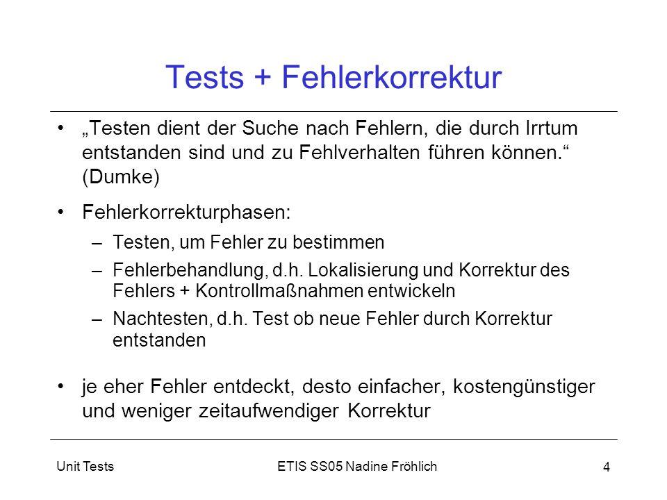 Tests + Fehlerkorrektur