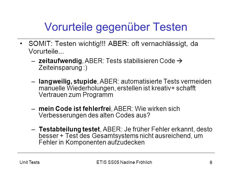 Vorurteile gegenüber Testen