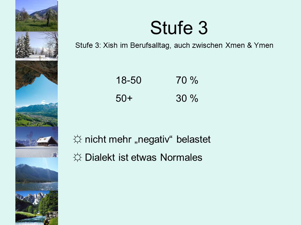 """Stufe 3 18-50 70 % 50+ 30 % nicht mehr """"negativ belastet"""