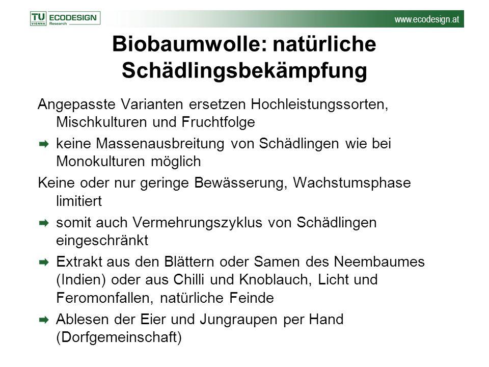 Biobaumwolle: natürliche Schädlingsbekämpfung
