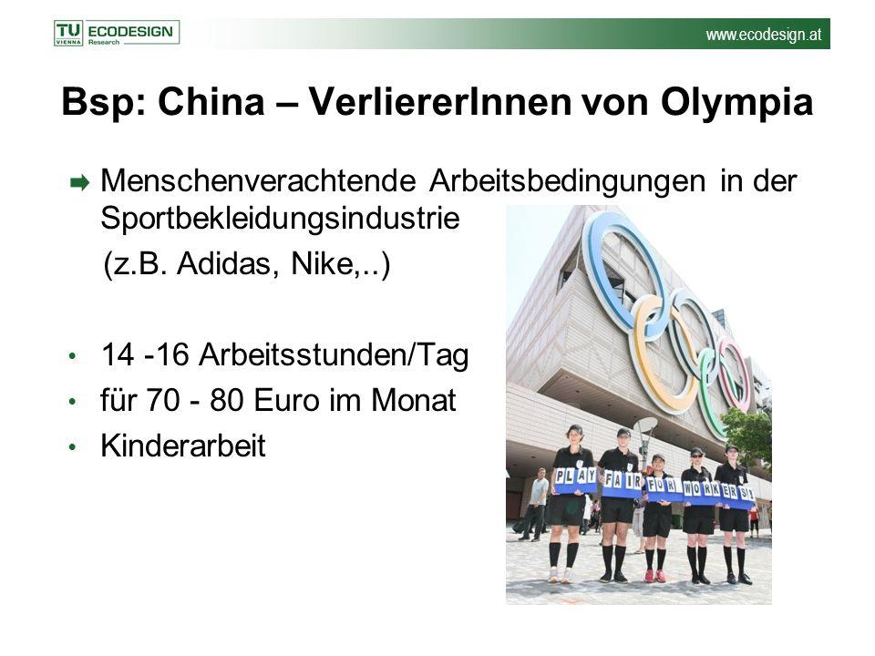 Bsp: China – VerliererInnen von Olympia