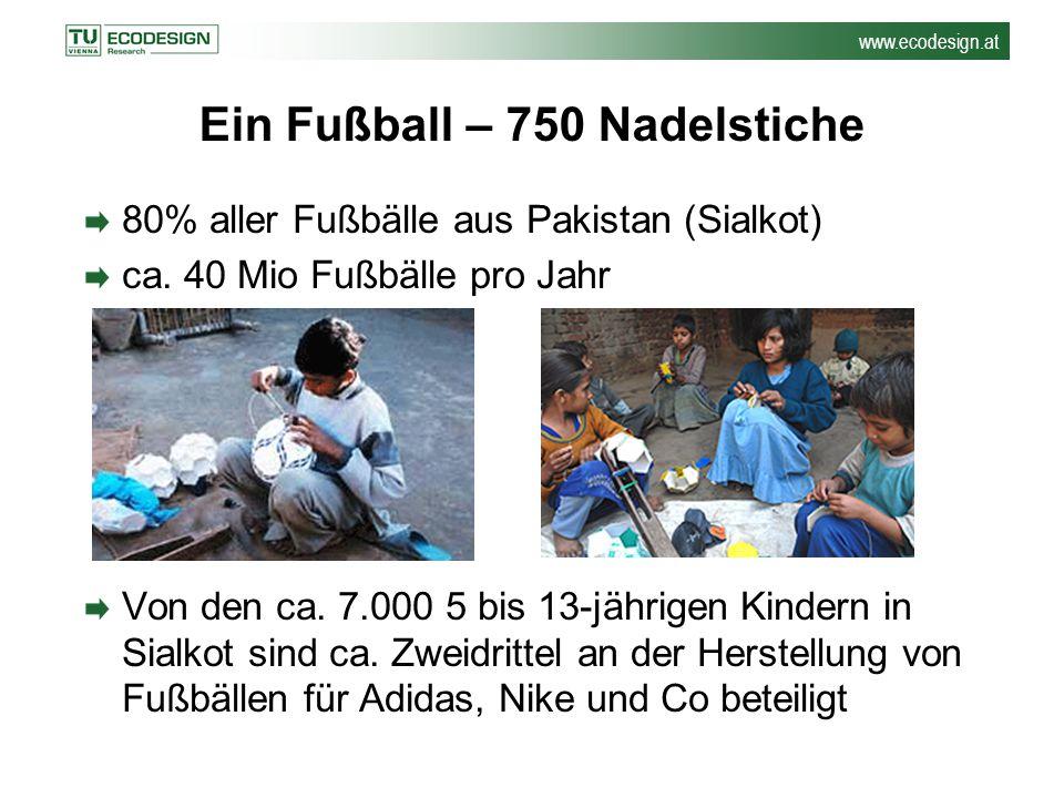 Ein Fußball – 750 Nadelstiche