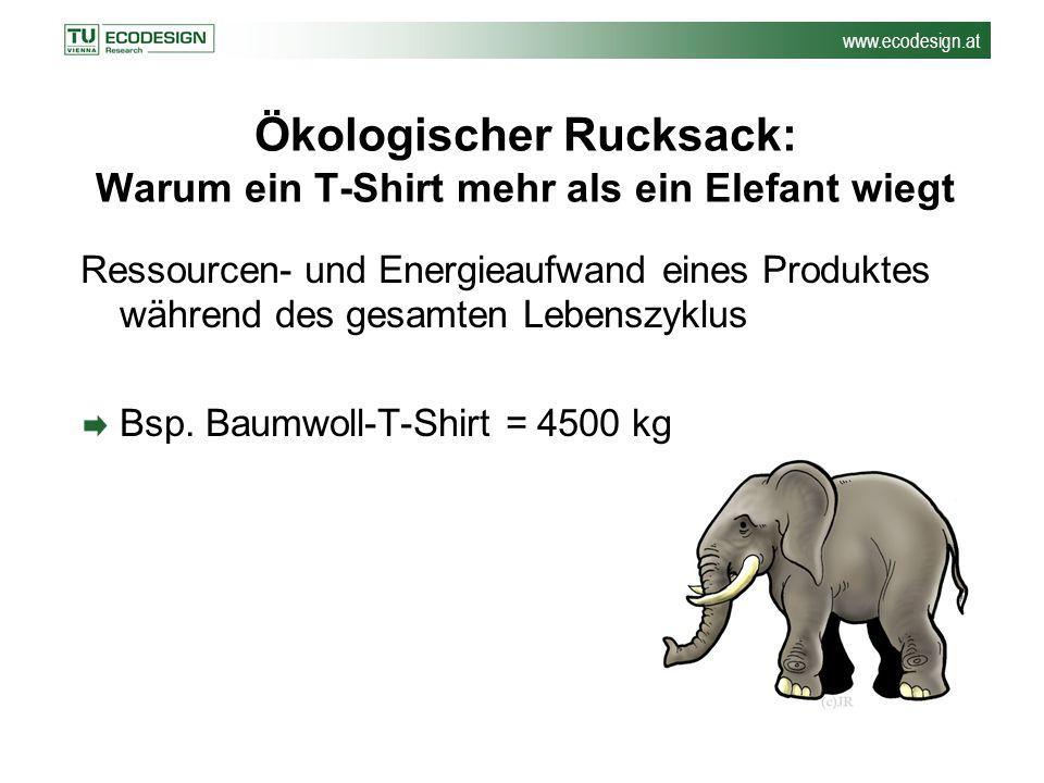Ökologischer Rucksack: Warum ein T-Shirt mehr als ein Elefant wiegt