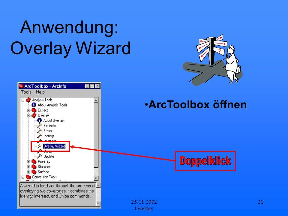 Anwendung: Overlay Wizard