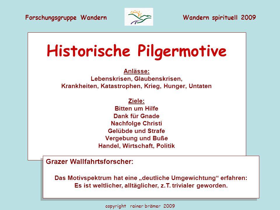 Historische Pilgermotive