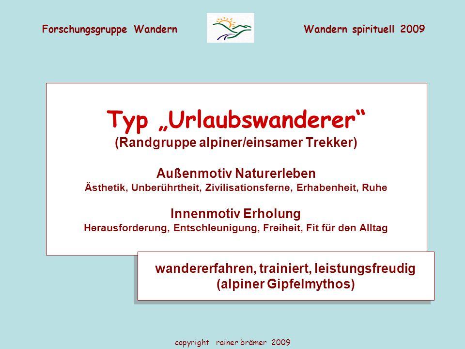 """Typ """"Urlaubswanderer"""