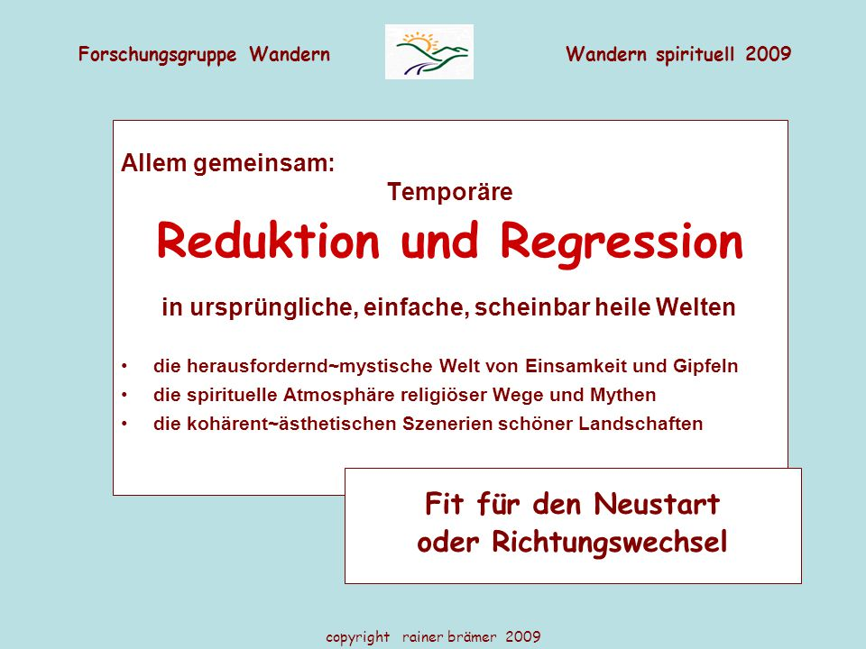 Reduktion und Regression