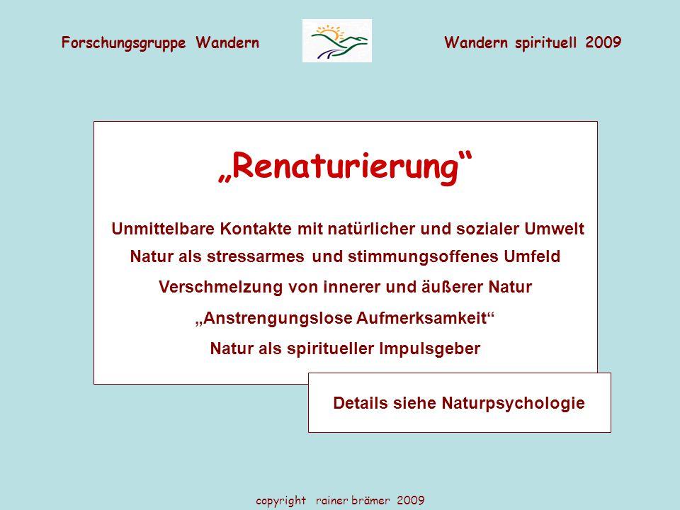 """""""Renaturierung Natur als stressarmes und stimmungsoffenes Umfeld"""