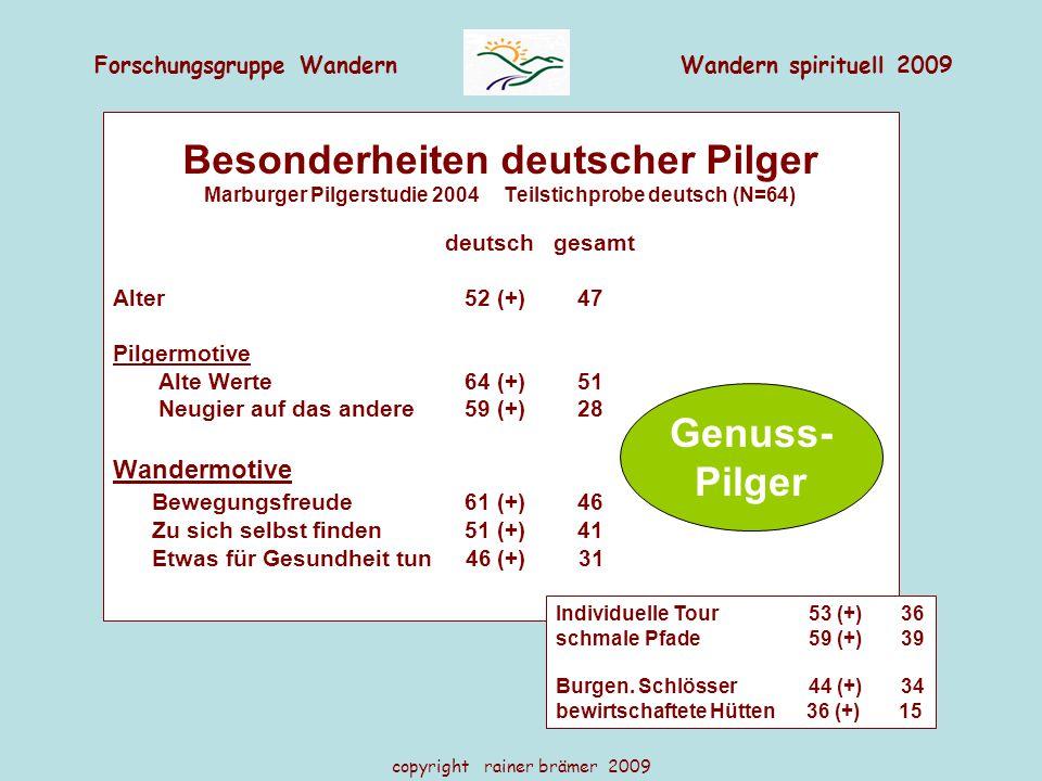 Besonderheiten deutscher Pilger Genuss- Pilger