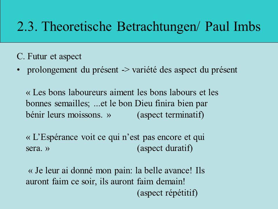 2.3. Theoretische Betrachtungen/ Paul Imbs