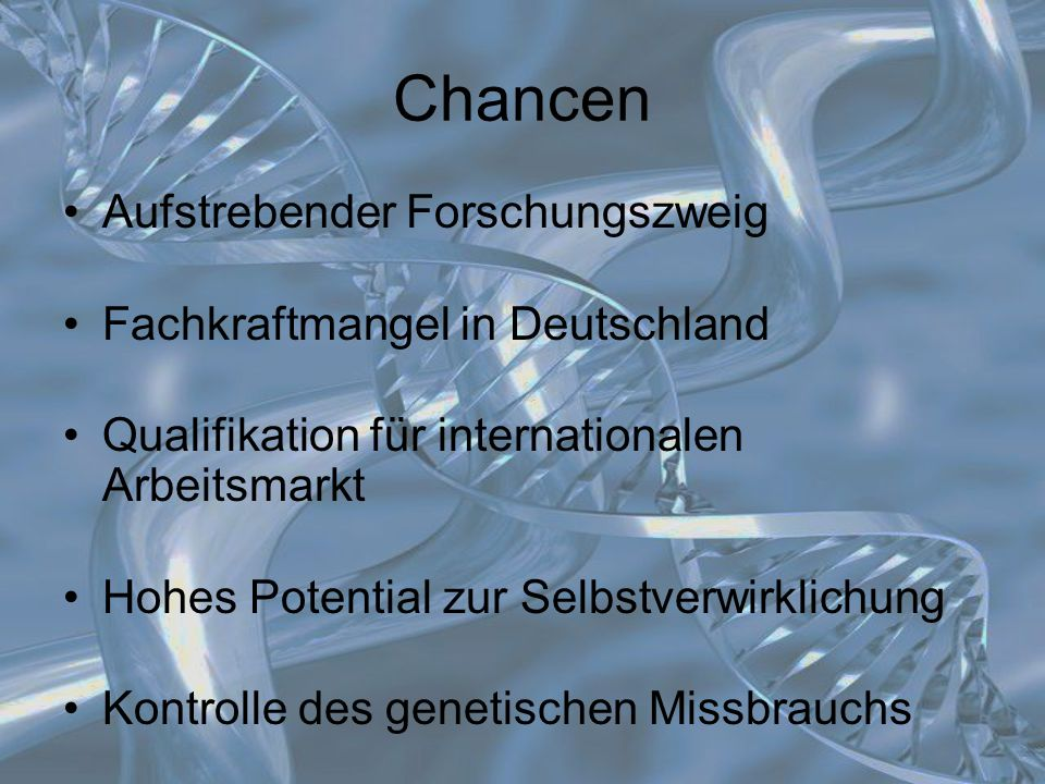 Chancen Aufstrebender Forschungszweig Fachkraftmangel in Deutschland