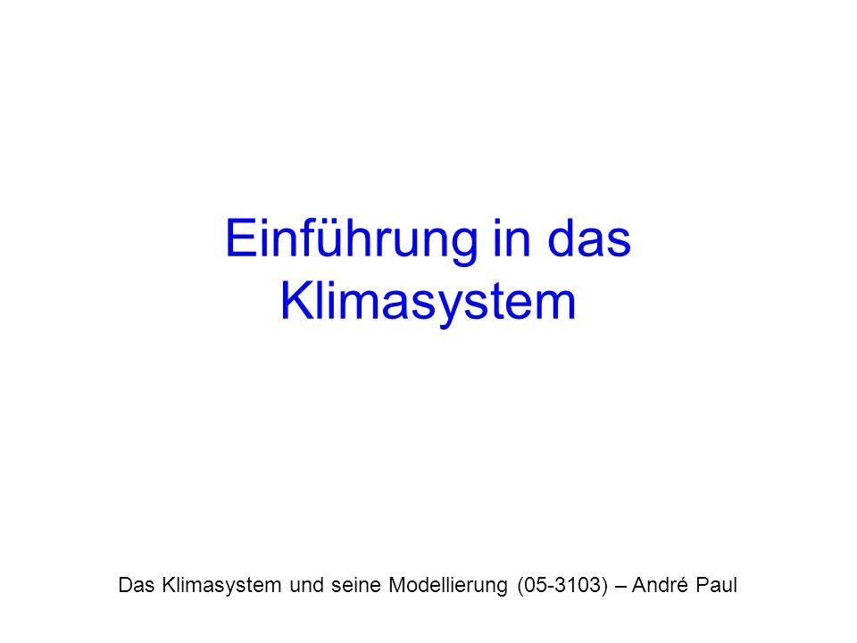 Einführung in das Klimasystem