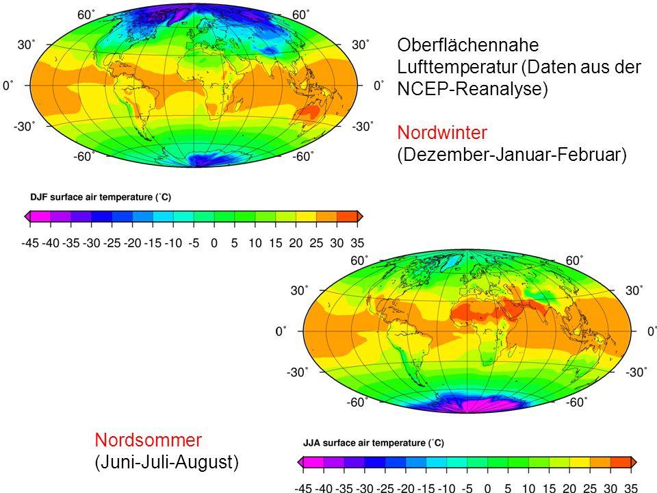 Oberflächennahe Lufttemperatur (Daten aus der NCEP-Reanalyse)