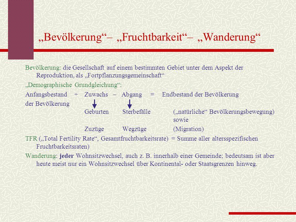"""""""Bevölkerung – """"Fruchtbarkeit – """"Wanderung"""