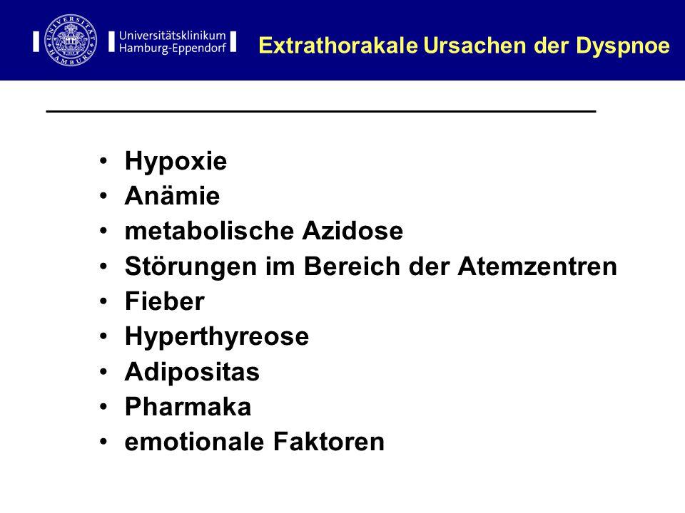 Extrathorakale Ursachen der Dyspnoe