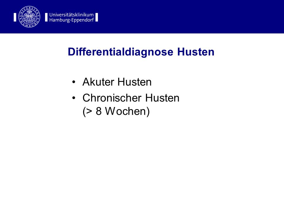 Differentialdiagnose Husten
