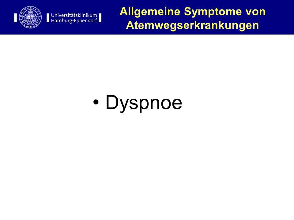 Allgemeine Symptome von Atemwegserkrankungen