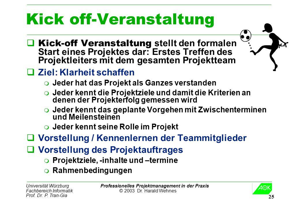 Kick off-Veranstaltung