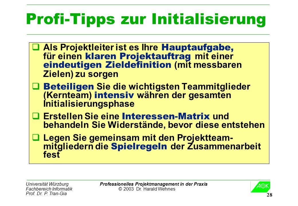Profi-Tipps zur Initialisierung