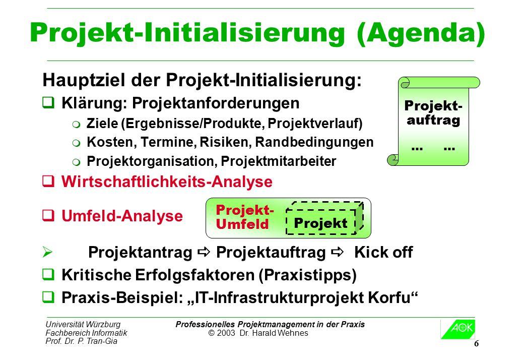 Projekt-Initialisierung (Agenda)