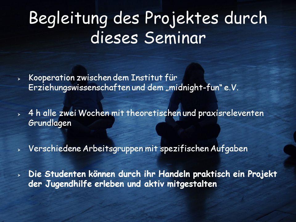 Begleitung des Projektes durch dieses Seminar