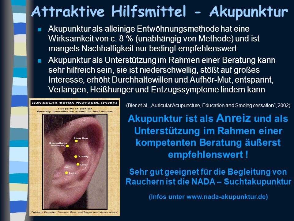 Attraktive Hilfsmittel - Akupunktur