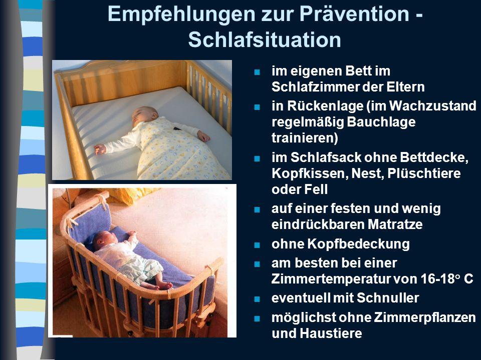 Empfehlungen zur Prävention - Schlafsituation