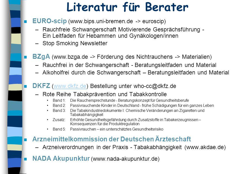 Literatur für Berater EURO-scip (www.bips.uni-bremen.de -> euroscip)