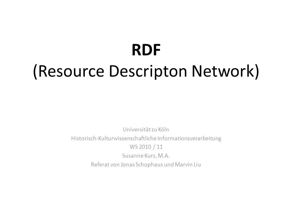 RDF (Resource Descripton Network)