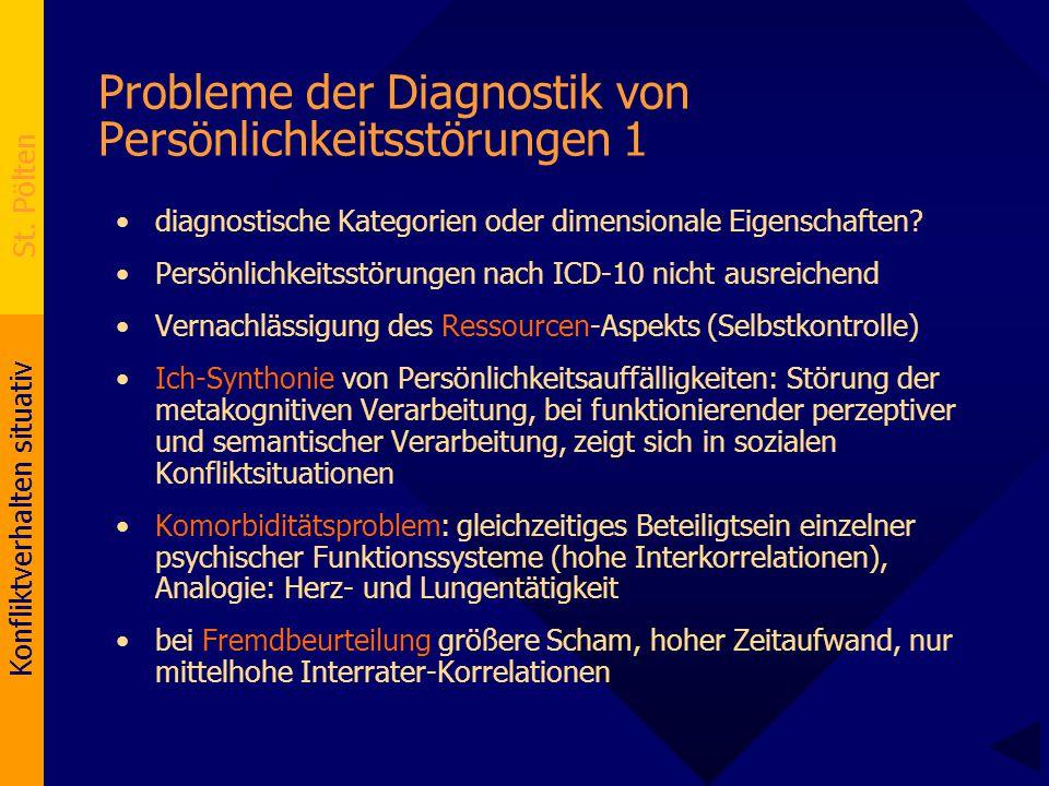 Probleme der Diagnostik von Persönlichkeitsstörungen 1