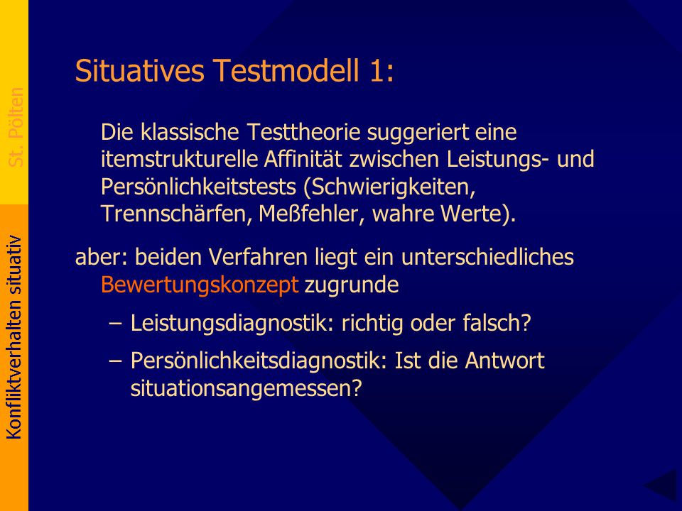 Situatives Testmodell 1: